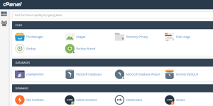 A screenshot of a cPanel.