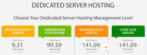 Several hosting plans, both managed and unmanaged.