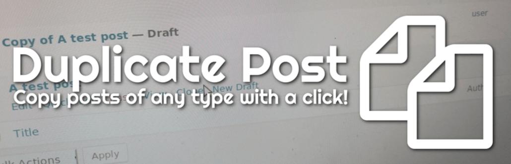 The Duplicate Post plugin.