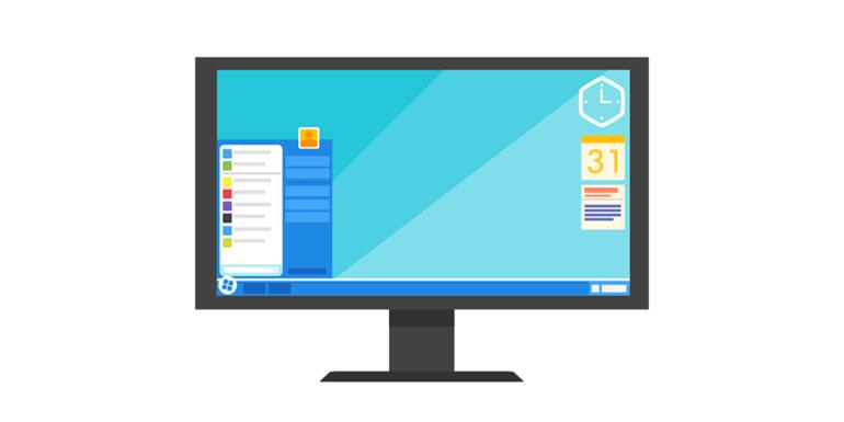 A PC showing a desktop.