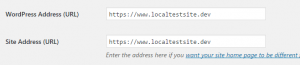 Modifying your WordPress addresses