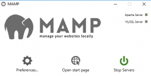 The MAMP application.