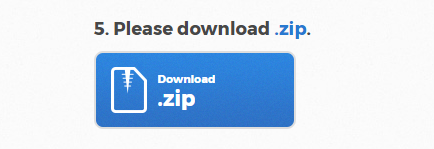 The option to download the necessary zip file.