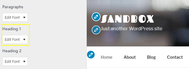 Changing the font for your Heading 1 option.
