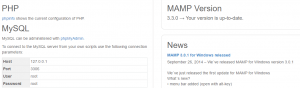 MAMP's localhost page.