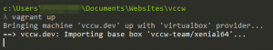 Starting your new Vagrant box.