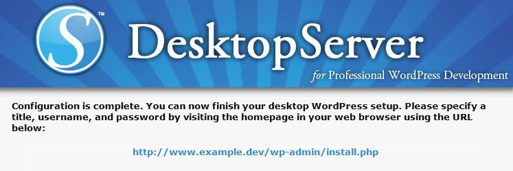 Initializing the WordPress installer.