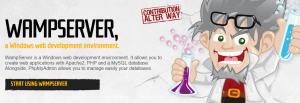 The WampServer homepage.