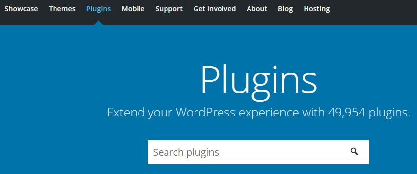 The WordPress plugins repository.