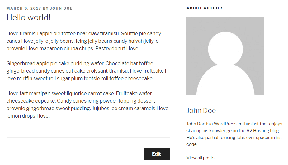 Changing the size of your avatar within the author box.