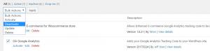 Deactivating plugins in WordPress.