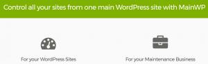 The MainWP homepage.