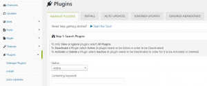 Managing your plugins.