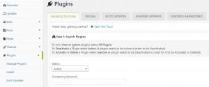 Managing your plugins.