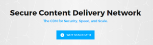 The StackPath homepage.
