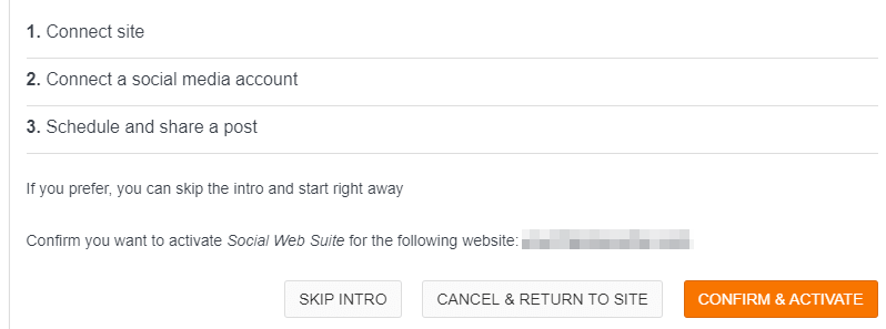 The Confirm and Activate button.