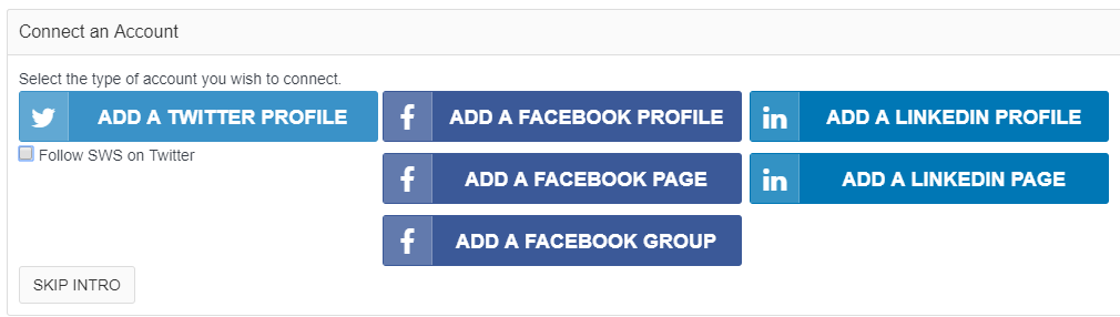 Connecting your social media accounts.