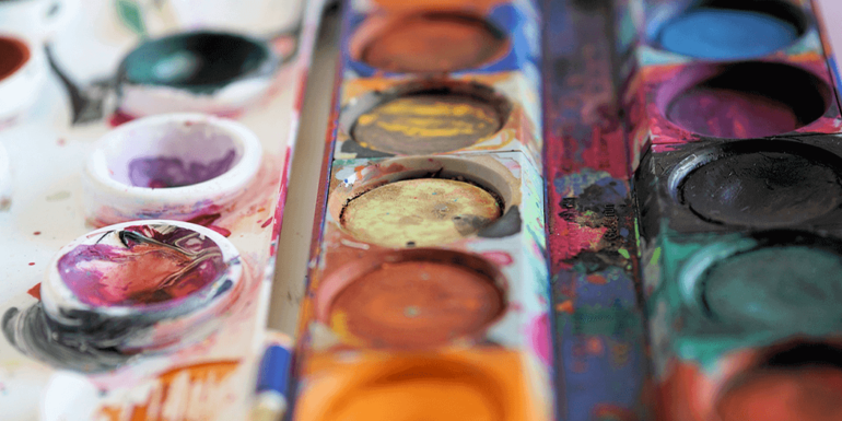A painting palette.