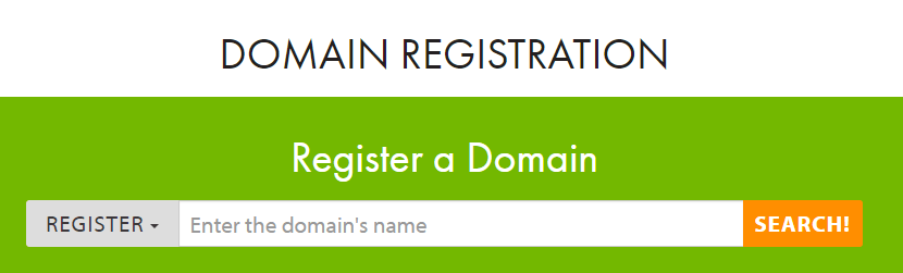 An screenshot of A2 Hosting's domain registrar section.