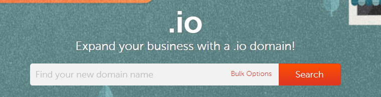 An example of a registrar that supports .io domains.
