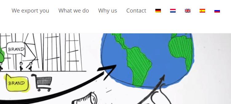 A multilingual website.