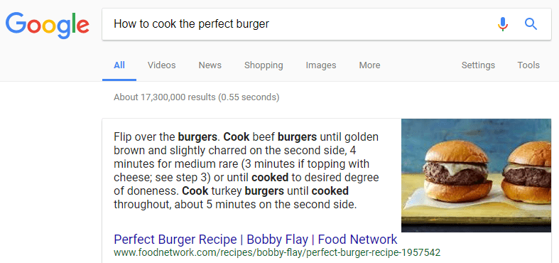 A screenshot of a Google search.