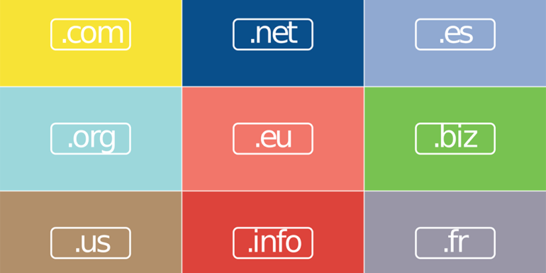 Multiple top-level domain options.