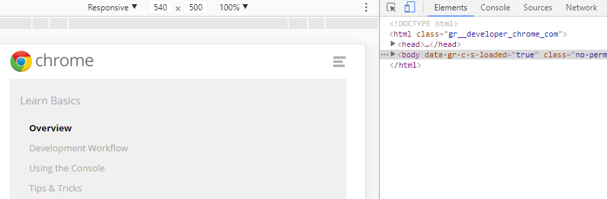 The Chrome DevTools.