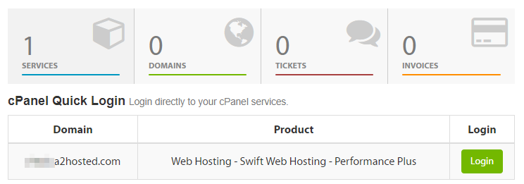 Accessing your cPanel.