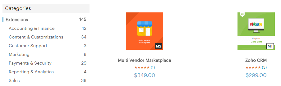 An example of two expensive Magento extensions.