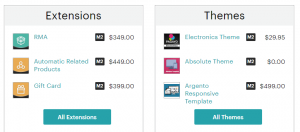 The Magento Marketplace.