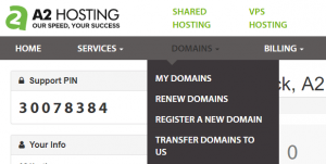 Initiating a new domain transfer.