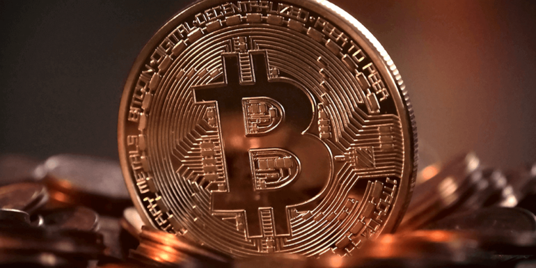 An image of a Bitcoin.