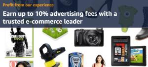 The Amazon Affiliates homepage.