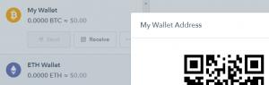 The Coinbase Bitcoin wallet.