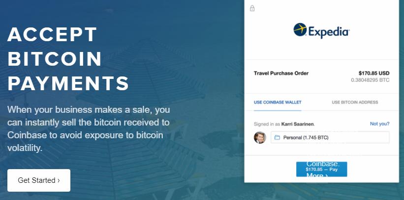 The Coinbase Merchant program.