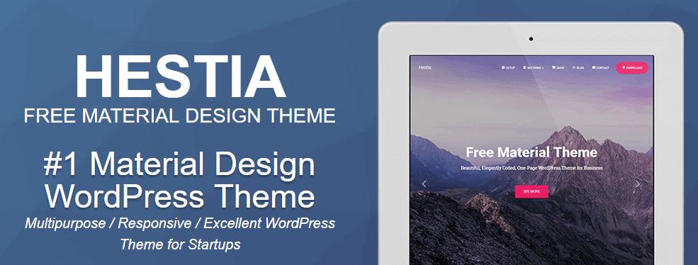 The Hestia WordPress theme.