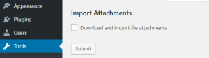 Importing your WordPress attachments.