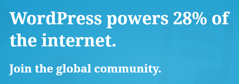The WordPress.com homepage.