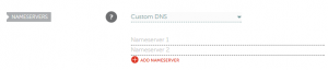 Customizing your nameservers.