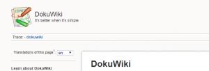 The DokuWiki homepage.