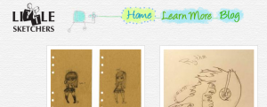 The Little Sketchers homepage.