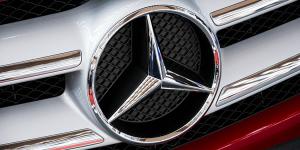A logo on a car.