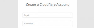 Signing up to Cloudflare.