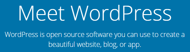 The WordPress.org homepage.