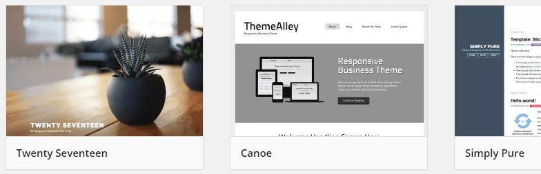 The WordPress theme repository.