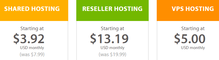 A few examples of cheap web hosting plans.