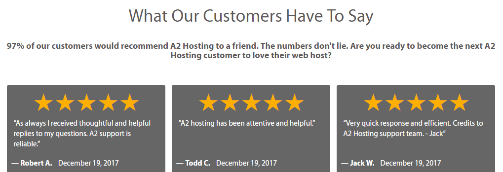 how to add client testimonials to your wordpress website Sample Testimonials several a2 hosting client testimonials