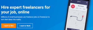 The Freelancer homepage.