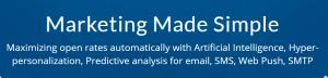 The SendPulse homepage.